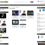 froPrestashop video gallery, video categories page