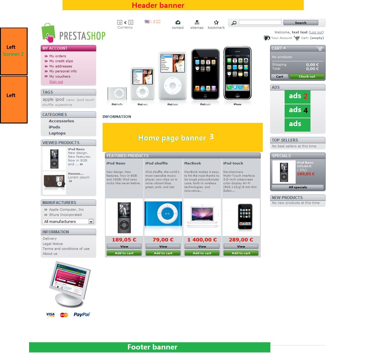 Prestashop banner ads uploader module banner ads upload kristyandbryce Images